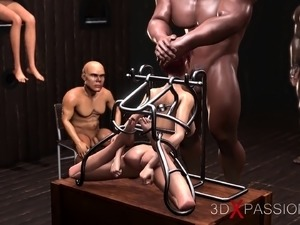 Gloryhole hardcore Young slaves get fucked hard by cruel men