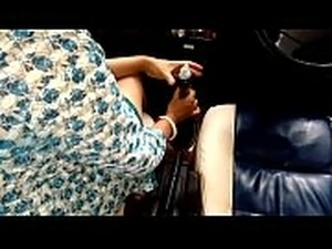Horny Indian Milf Bhabhi Riding Car Gear Shift