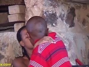 African teen rough big cock fucked
