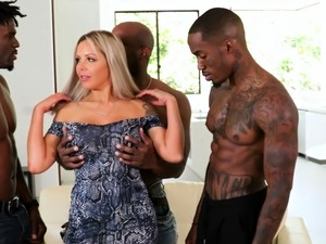 Horny Cougar Nina Elle Wants Gangbang With Black Mover Guys