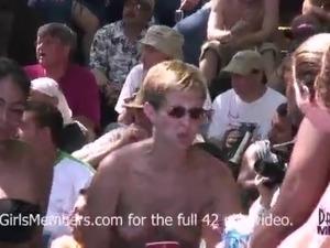 No Rules Wet T-shirt Contest At A Nudist Resort