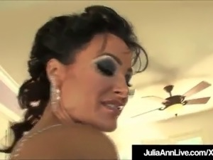 Horny Hot Milfs Julia Ann & Lisa Ann Bang 2 Hard Cocks!
