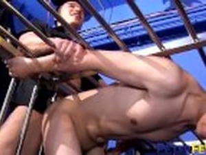PETERFEVER Young Asian Prisoner Fucked By Officer Duncan Ku