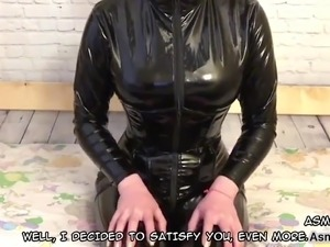 Russian Girl In Latex, Nylon Socks (ENG Subtitles)