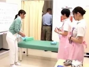 Wild Asian nurses satisfying their intense desire for cock