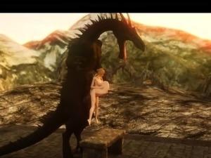 3D Elf Teens Demolished by Dragons!