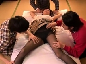 Luscious Japanese housewife exploring hardcore fantasies