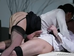 Clothed Big Tits Secretary Fucked Hard By Big Dick Boss WHO IS SHE