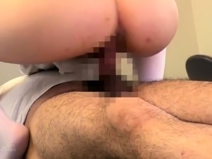 Naughty Japanese nurse in stockings has a passion for cock