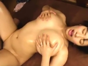 Stacked Japanese housewife enjoys an intense ride of fucking