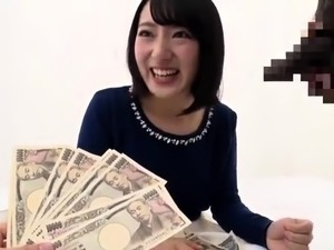 Cute Japanese babe enjoys her first interracial experience