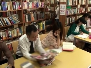 Stacked Oriental teen fucked by her teacher in the library
