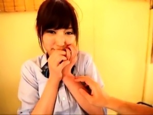 Delightful Japanese schoolgirl enjoys a deep POV drilling