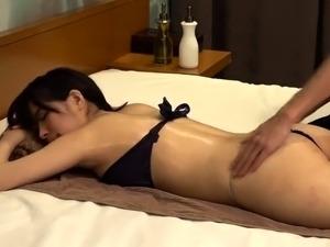 Buxom Asian babe enjoys a sensual massage and a deep fucking