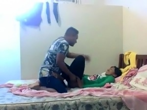 Adorable Indian teen fucked by her boyfriend on hidden cam