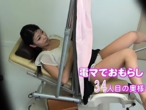 Luscious Japanese wives getting their hairy cunts vibrated
