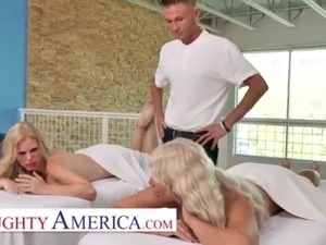 Naughty America - Casca Akashova and London River get a full service from...