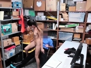 Police woman full and caught watching porn Habitual Theft