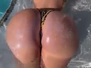 Lucky Horny Pool Boy Fucks Thick Latin Amateur Teen Babe in the Pool with the...