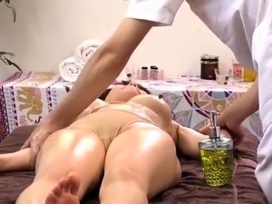 Lustful Japanese milfs sexually fulfilled by wild masseurs