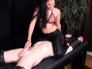 Latex love slutty gal fucked and sucking cock in latex