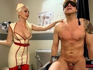 Femdom nurse pegging her pathetic subject