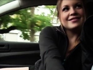 Alessandra Jane screwed up with pervert dude inside the car