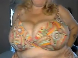 Granny Plays With Large Her Breasts