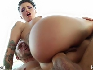 HardX Tatooed babe Christy Mack extreme deep anal