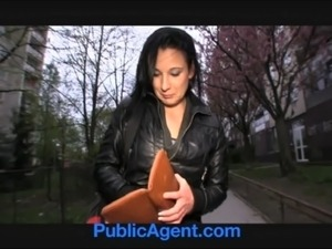 PublicAgent Krystina bends over for a wallet full of cash free