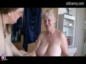 Two Grannies and man have sex free