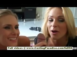 Ginger Snow and Sunset Diamond amateur blonde teen with natural tits does...