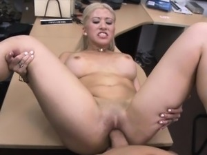 Sweet blonde chick earning some quick fuckin cash