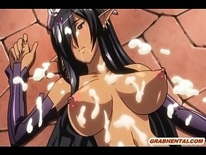 Ghetto hentai Elf brutally gangbang fucked by bandits in the