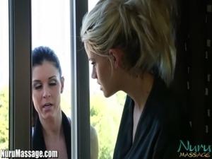 Nuru Massage aggressive MILF's Lesbian Pussy Licking free