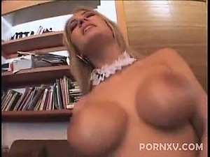 Busty blonde Trina Michaels plays the role of a sexy French
