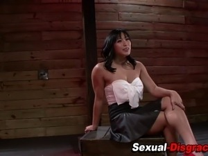 Asian sex slave gagged