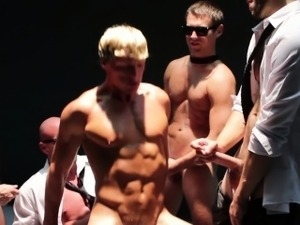 Gay orgy with Mitch Vaughn and pals