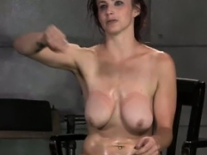 Ginger sub gets anally pounded as she is restrained