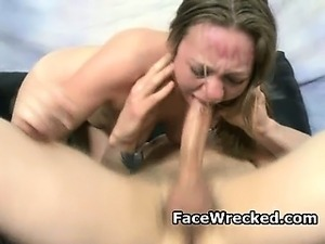 Blonde Amateur Gets Rough And Humiliating Face Fuck