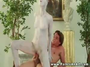 Statue comes to life ready to get fucked free