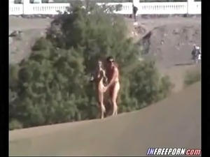 (no sound) Voyeur Beach Couple