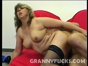 Dorothy is one hot granny and wearing only her sheer black