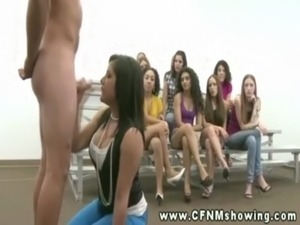 CFNM FEMDOM hottie receives mouthful of midget juice free