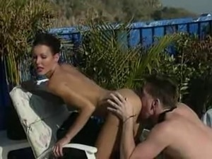 Nancy Vee - Pool Fucker with best legs in porn