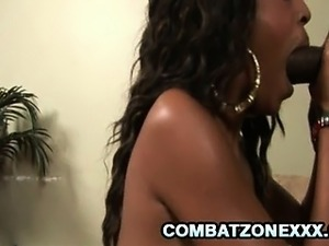 L Brooks - Skinny Ebony Penetrated By A Thick Black Cock