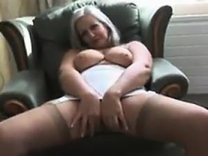Fat Granny Teasing Her Body