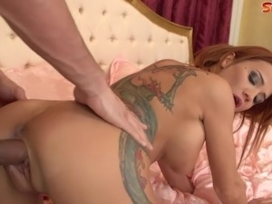 Goldie Devine is a redheaded, big titted, sex machine. Watch her bounce her...
