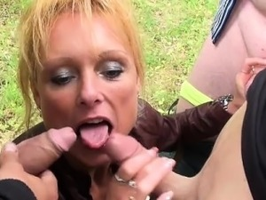French mature Mendy gangbanged