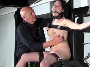 Gagged slave Honesty Cabelleros erotic domination